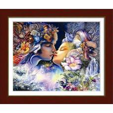 10001 Прелюдія до поцілунку (за мотивами картини Жозефіни Уол). Dream Art. Набір алмазної мозаїки (круглі камені, часткова)