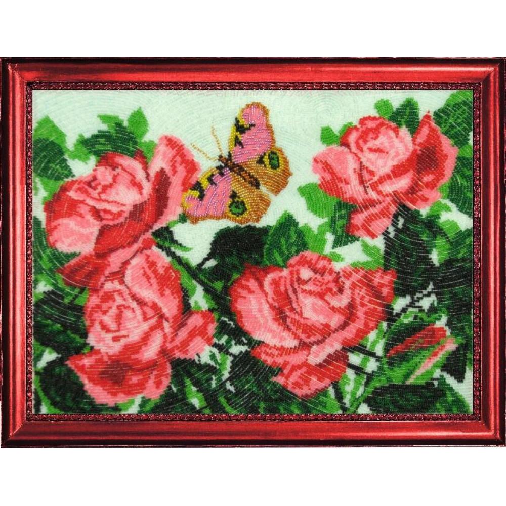 117 Метелик і троянди. Butterfly. Набір для вишивання бісером