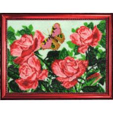 117 Бабочка и розы. Butterfly. Набор для вышивания бисером