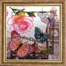 109 Привет из Лондона. Butterfly. Набор для вышивания бисером