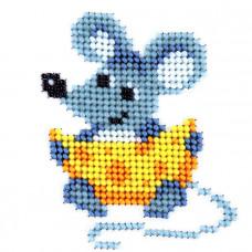 L418 Миші з сиром. Луїза. Набір для вишивання бісером