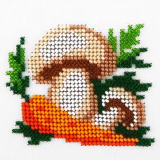L498 Гриби і моркву. Луїза. Набір для вишивання бісером