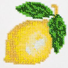 O445 Лимон. Луїза. Схема на тканині для вишивання бісером