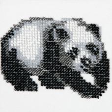 O454 Панда. Луїза. Схема на тканині для вишивання бісером