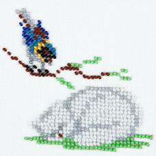 O456 Синиця і кіт. Луїза. Схема на тканині для вишивання бісером