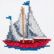 O457 Кораблик. Луїза. Схема на тканині для вишивання бісером