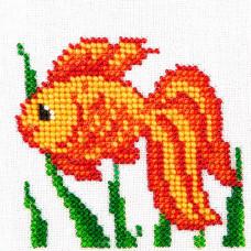 O463 Золота рибка. Луїза. Схема на тканині для вишивання бісером
