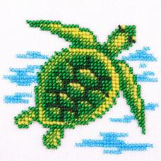 O468 Морська черепаха. Луїза. Схема на тканині для вишивання бісером