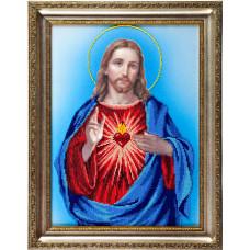 A502 Святе Серце Христове. Ангеліка. Схема на тканині для вишивання бісером
