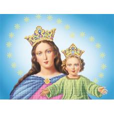 A506 Діва Марія з Ісусом. Ангеліка. Схема на тканині для вишивання бісером