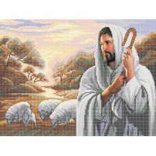 A507 Господь мій Пастир. Ангеліка. Схема на тканині для вишивання бісером
