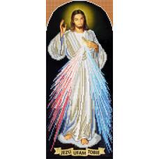 A513 Ісусе, уповаю на Тебе. Ангеліка. Схема на тканині для вишивання бісером