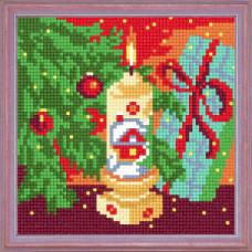 A13 Під новорічною ялинкою. Чарівниця. Канва з нанесеним малюнком