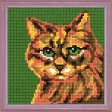 A22 Кішка. Чарівниця. Канва з нанесеним малюнком