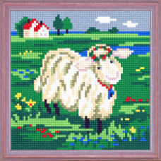 A52 Закохана овечка. Чарівниця. Канва з нанесеним малюнком