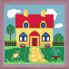 A53 Будиночок на галявині. Чарівниця. Канва з нанесеним малюнком