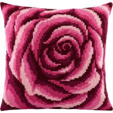 Z02 Троянда. Подушка. Чарівниця. Набір для вишивання нитками на канві з нанесеним малюнком