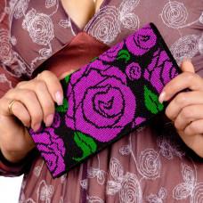 C212 Рожевий сад. Клатч. Набір для вишивання та шиття