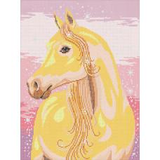 A516 Казкова кінь. Ангеліка. Схема на тканині для вишивання бісером