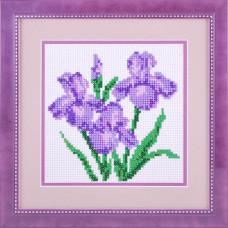20006 Три ириса. Dream Art. Набор алмазной мозаики (круглые камни, полная)