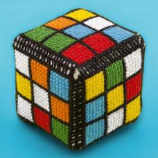 B102 Кубик Рубіка. Брелок. Biscornu. Набір для вишивання нитками