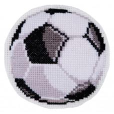 B302 Футбольний м`яч. Брелок. Biscornu. Набір для вишивання нитками