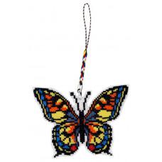 B309 Метелик. Брелок. Biscornu. Набір для вишивання нитками