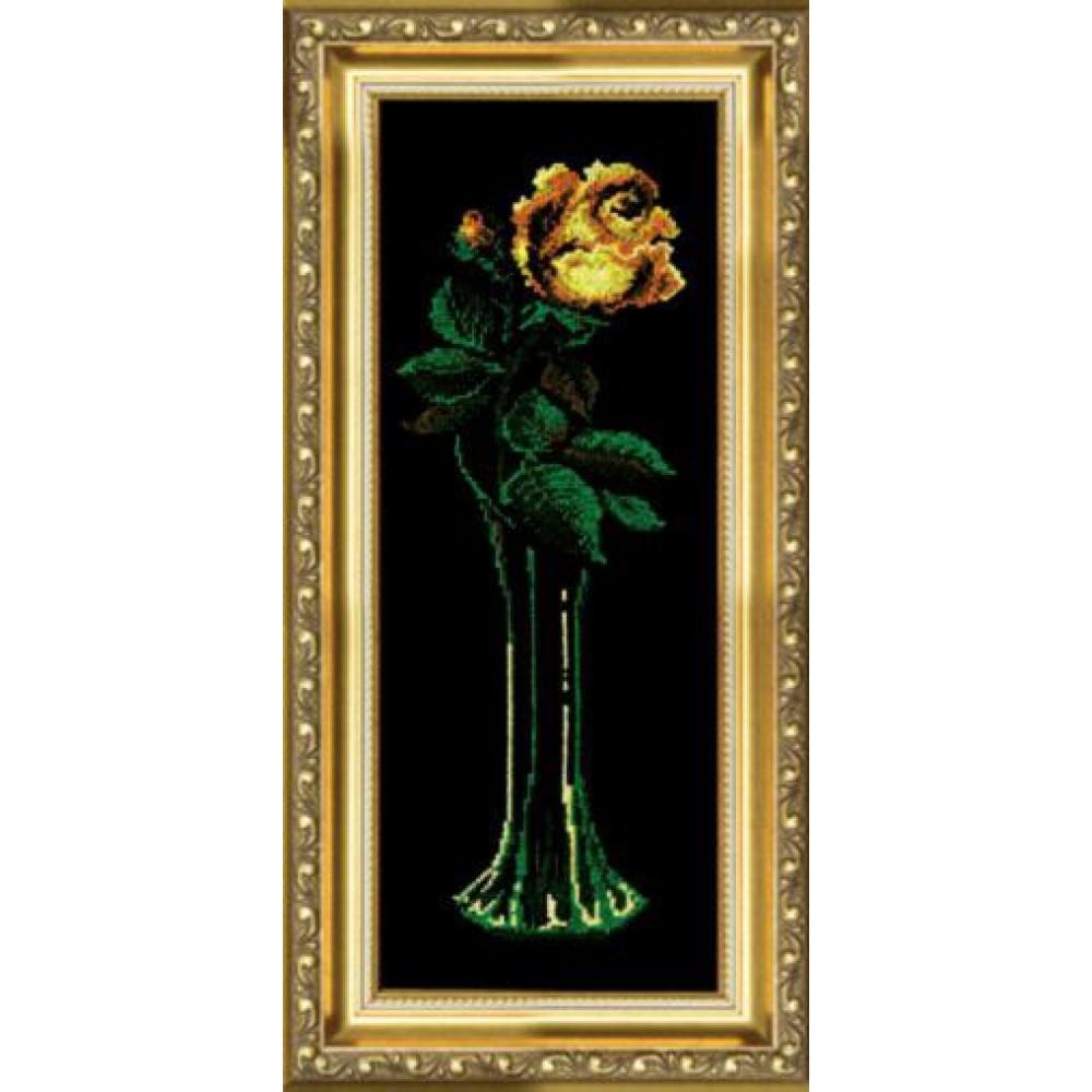 129 Жовта троянда. Чарівна Мить. Набір для вишивання нитками