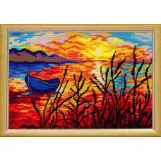 TL26 Закат. Quick Tapestry. Набор для вышивания нитками на канве с нанесенным рисунком