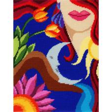 TL28 Весна. Quick Tapestry. Набор для вышивания нитками на канве с нанесенным рисунком