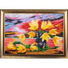 234 Жовті тюльпани. Butterfly. Набір для вишивання бісером