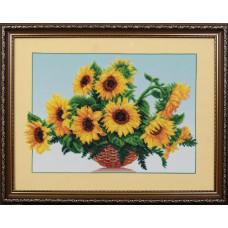 Б-006 Сонячні квіти. Магія канви. Набір для вишивання бісером