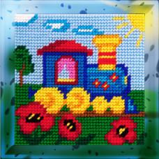 X2001 Паровозик. Bambini. Набір для вишивання нитками на канві з нанесеним малюнком
