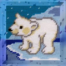 X2003 Ведмедик на півночі. Bambini. Набір для вишивання нитками на канві з нанесеним малюнком