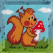 X2008 Білочка. Bambini. Набір для вишивання нитками на канві з нанесеним малюнком