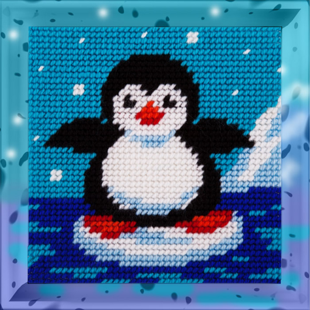 X2012 Пінгвін. Bambini. Набір для вишивання нитками на канві з нанесеним малюнком