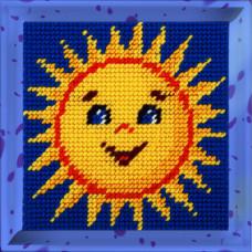 X2013 Сонечко. Bambini. Набір для вишивання нитками на канві з нанесеним малюнком