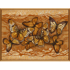 БИС1272 Полет бабочек. Новая Слобода. Схема на ткани для вышивания бисером