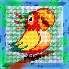 X2024 Папуга. Bambini. Набір для вишивання нитками