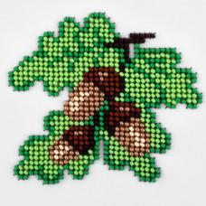 L501 Дубове листя. Луїза. Набір для вишивання бісером