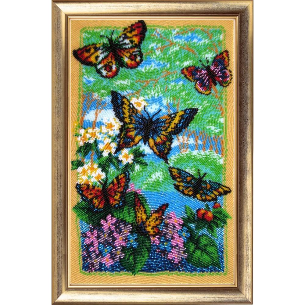 110 Пурхають метелики. Butterfly. Набір для вишивання бісером
