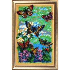 110 Порхающие бабочки. Butterfly. Набор для вышивания бисером