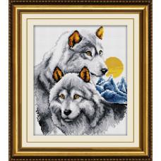 30079 Пара вовків. Dream Art. Набір алмазної мозаїки (квадратні, повна)