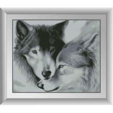 30081 Закохані вовки. Dream Art. Набір алмазної мозаїки (квадратні, повна)