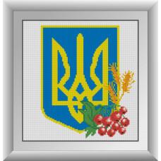 30084 Герб України. Dream Art. Набір алмазної мозаїки (квадратні, повна)