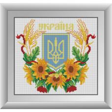 30085 Герб України 2. Dream Art. Набір алмазної мозаїки (квадратні, повна)