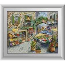 30092 Вуличне кафе. Dream Art. Набір алмазної мозаїки (квадратні, повна)