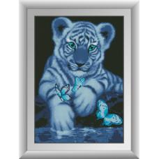 30099 Білий тигр. Dream Art. Набір алмазної мозаїки (квадратні, повна)