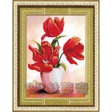 170048 Розкрилися тюльпани-2. DA. Набір алмазної мозаїки (стрази)