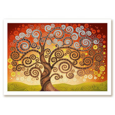 БИС0282 Дерево счастья. Новая Слобода. Схема на ткани для вышивания бисером